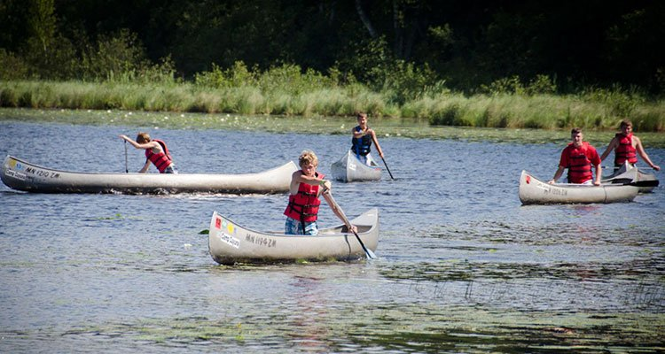 camp cuyuna canoeing