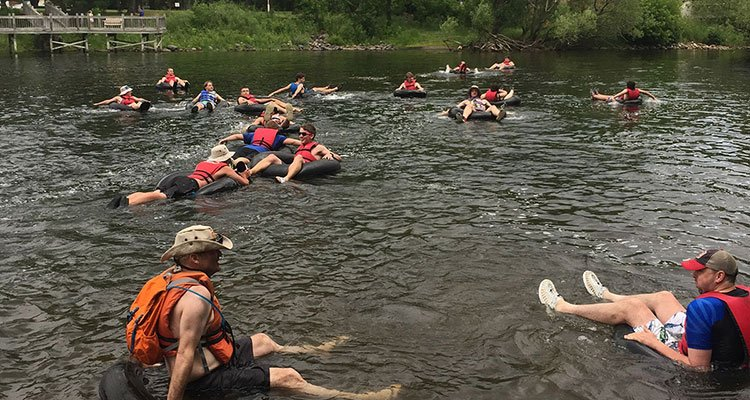 camp cuyuna river tubing