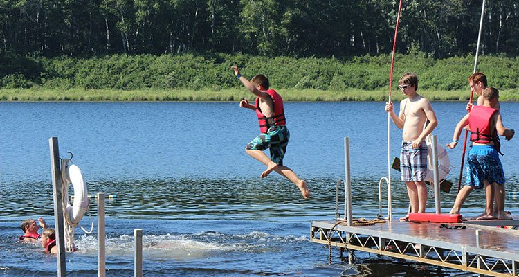 camp cuyuna swimming