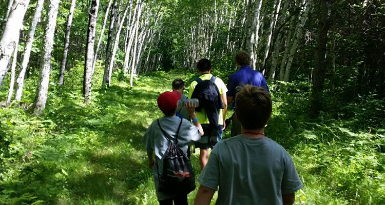 camp cuyuna trail hiking